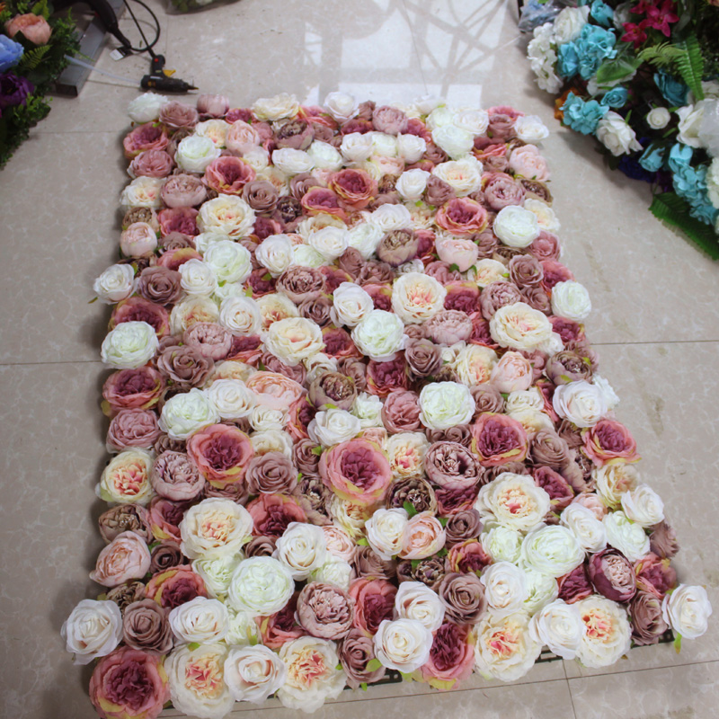 SPR 3D high quality Artificial wedding occasion rose flower wall backdrop arrangement wedding decoration ever Free Shipping