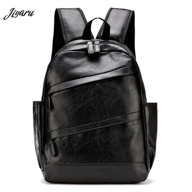 Hot Sale PU Leather Backpack Men Travel Backpack Fashion Casual Bagpack Shoulder Bag For Men