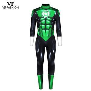 Image 5 - Disfraz de Linterna Verde de DC Comic para hombre y adulto, VIP FASHION, superhéroe Zentai, carnaval muscular flash, disfraces de Halloween