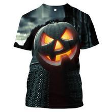 2019 LBG new 3D Halloween pumpkin T-shirt men and women fashion casual sports Harajuku short sleeve