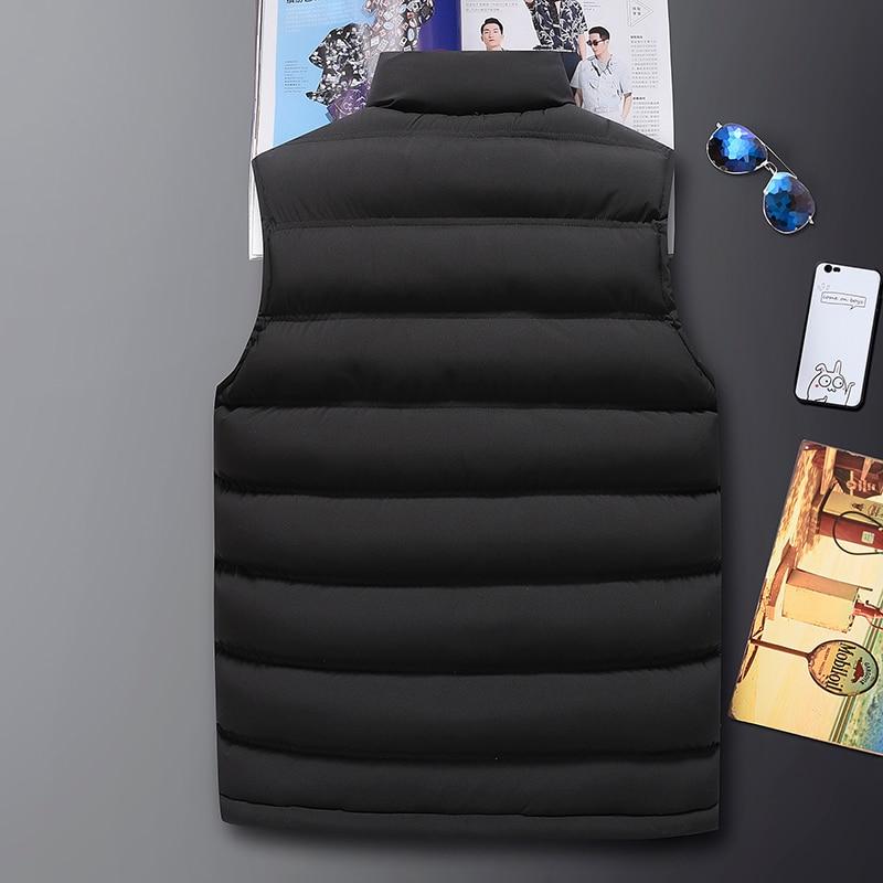 Mens Vest Jacket Men New Autumn Warm Sleeveless Jackets Male Winter Casual Waistcoat Vest Plus Size Veste Homme Brand Clothing 2