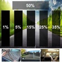 300x50cm vlt preto auto carro janela de vidro casa edifício tinting filme rolo janela lateral solar proteção uv adesivo cortina raspador