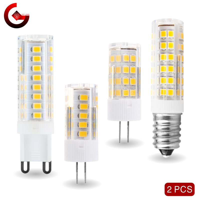 2pcs/lot <font><b>LED</b></font> Bulb 3W 4W 5W 7W G4 <font><b>G9</b></font> E14 ​LED Lamp AC <font><b>220V</b></font> <font><b>LED</b></font> Corn Bulb SMD2835 360 Beam Angle Replace Halogen Chandelier Lights image