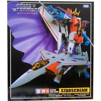 цена на TAKARA TOMY Transformation MP11 fighter Metal Part 25CM Starscream Autobots Action Figure Toys Deformation Robot Children Gifts