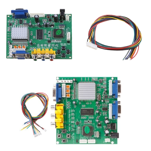 Chơi Game RGB/CGA/EGA/YUV Sang Dual VGA Video Ban GBS 8220