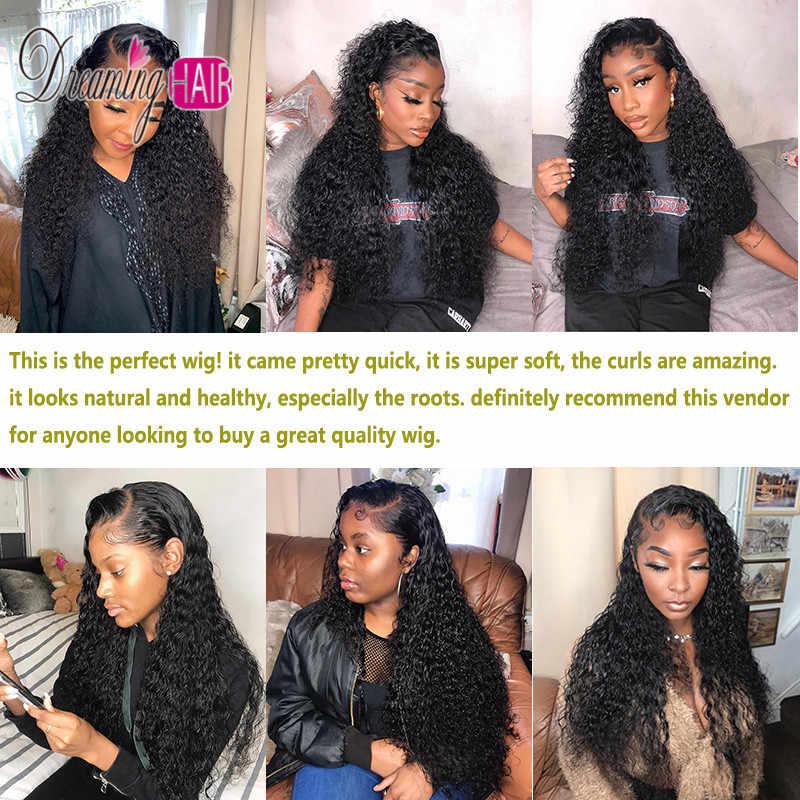 Mokre i faliste kręcone krótkie koronki przodu włosów ludzkich Bob peruka 13*6 głębokie rozstanie 150% gęstości Remy koronkowa peruka na przód Virgin dla czarnych kobiet