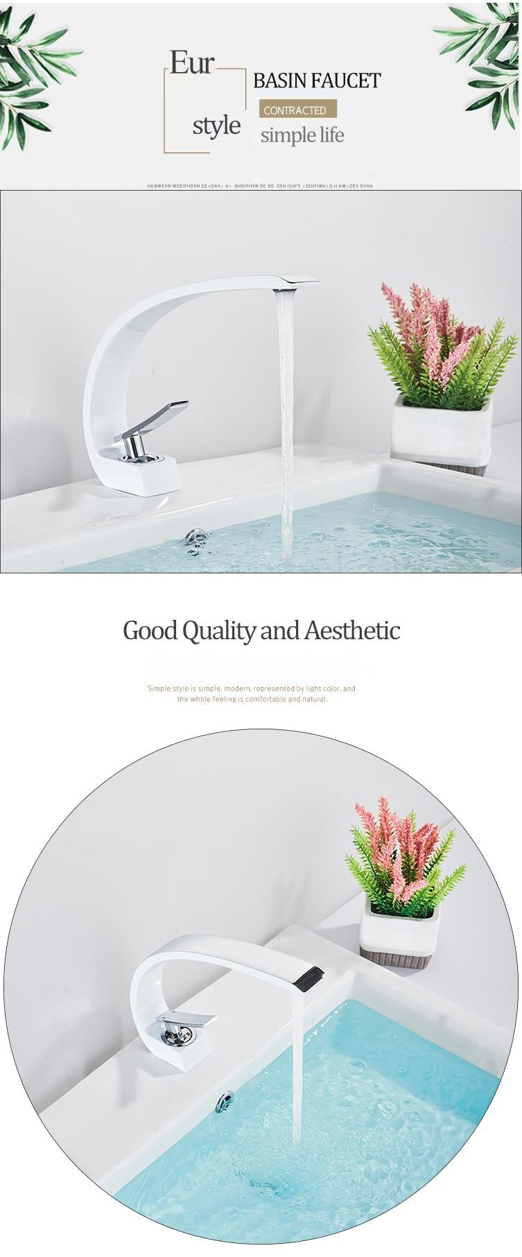 Hca1ba2479e4243d68bde3fe7c83cc3a2u Senlesen Bathroom Faucet Ceramic Valve Cold and Hot Water Mixer Tap Single Handle Vanity Sink Basin Faucets