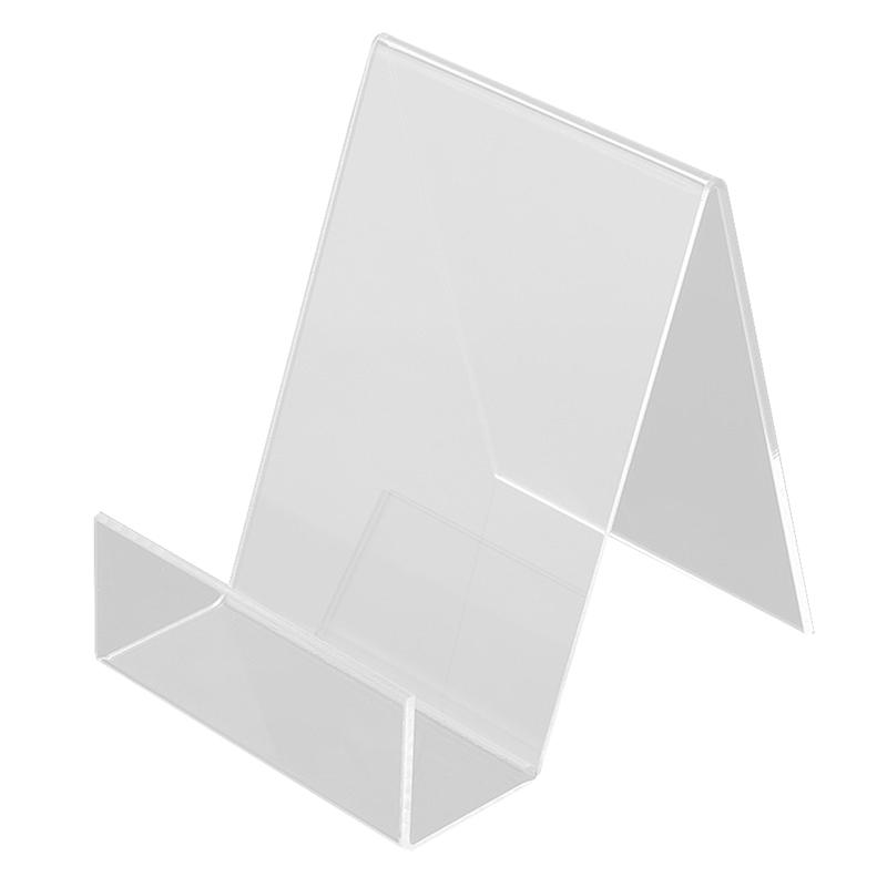 2pcs Book Display Stand Desktop Book Holder Transparent Acrylic Book Shelf Vertical Book Textbook Display Stand (Transparent )