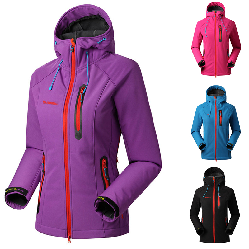 SAENSHING Jacket Women Rain-Coat Outdoor-Clothing Soft Shell Fleece Windproof Brand Female title=