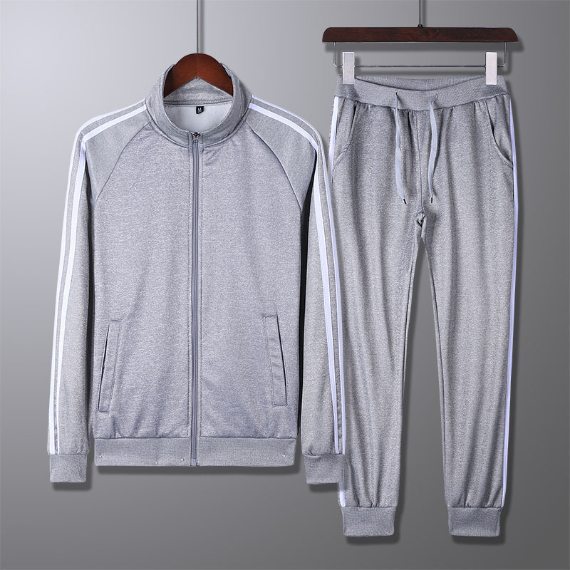 Hoodie Men's Autumn Set 2018 New Style MEN'S Casual Pants Three Bars Spring And Autumn Sports Set