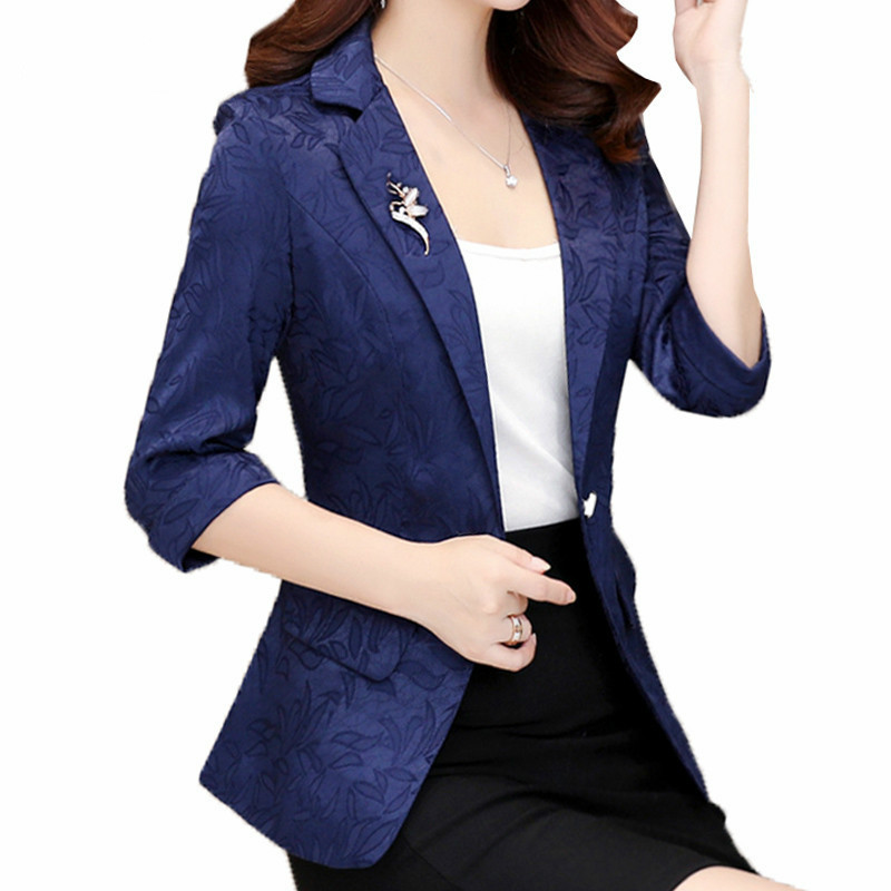 High Quality 2020 Free Shipping New Fashion Spring Blazers Women Suit Tops Ol Ladies Blazer Single Button Jackets Outerwear