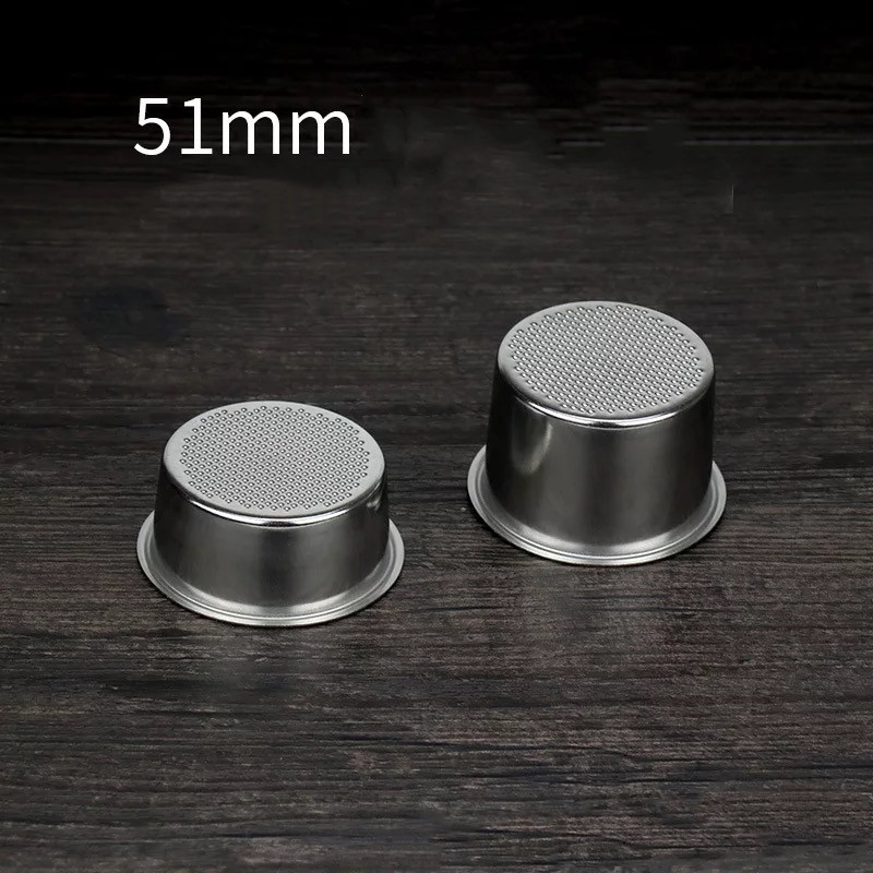 51mm 2/4 Cups Filter Replacement Filter Basket For Coffee Bottomless Portafilter For Delonghi EC680/EC685 Espresso Machine Parts