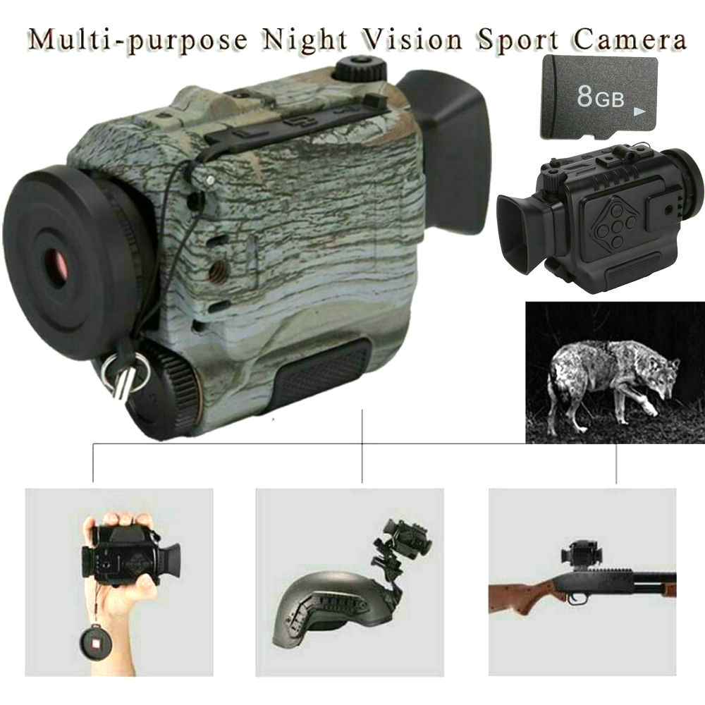 Night Vision Scope Monocular Binocular IR Hunting Helmet Telescope Camera PSV14