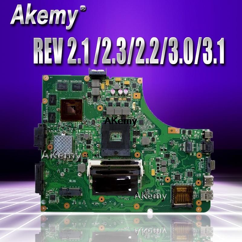 Akemy K53SV Laptop Motherboard For ASUS K53SM K53SC  K53SJ Test Original Mainboard With 3.0USB REV 2.1 /2.3/2.2/3.0/3.1 GT540M