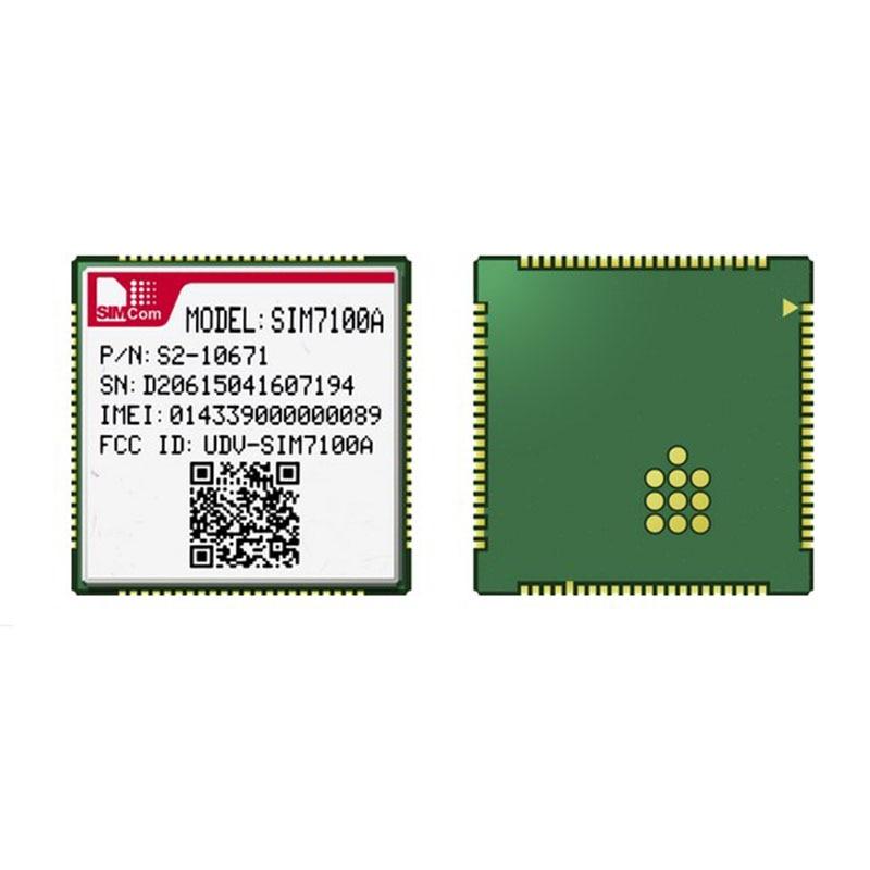 SIMCOM SIM7100A LTE Cat-3 Module LCC Type Quad-Band LTE-FDD B2/B4/B5/B17 Dual-Band UMTS/HSDPA/HSPA+ B2/B5