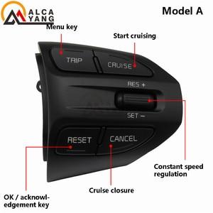 Image 4 - زر عجلة القيادة لكيا K2 ريو 2016 2017 2018 أزرار بلوتوث الهاتف سرعة التحكم في مستوى الصوت