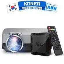 AUN мини светодиодный проектор Q6/Q6s, 2 года гарантии на оборудование. 3d видеопроектор для домашнего кинотеатра Full HD 30000 часов работы, HDMI