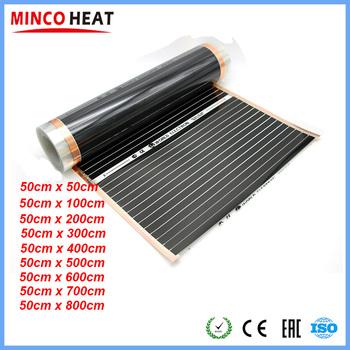 220V 50cm szerokość zdrowe ogrzewanie podłogowe ogrzewanie podłogowe na podczerwień ogrzewanie węglowe tanie i dobre opinie MINCO HEAT HF-220 Części ogrzewania podłogowego Ogrzewanie podłogowe filmy Termostatyczny zawór mieszający 220W m2