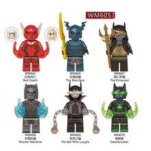 Single Sale Plastic Building Block Dark Nights Metal Knights Red Death Machine Batman Bricks Toys For Children Gifts DIY WM6057 все цены