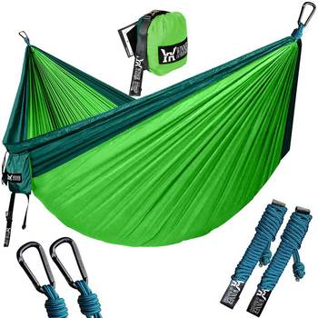 Ultralight Travel Double Hammock Hanging Portable Bed Hamock Rede De Camping Parachute Hammock Chair Outdoor Swing for Children
