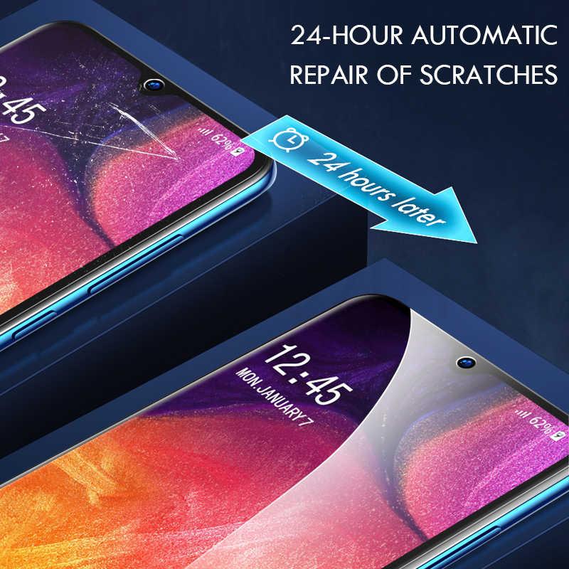 Hidrogel 500D Cobertura Completa Film Protector de Ecrã Para Samsung Galaxy A51 A71 A50 A70 A10 A20 A30 A40 A20E A80 A90 M10 M20 Não Vidro