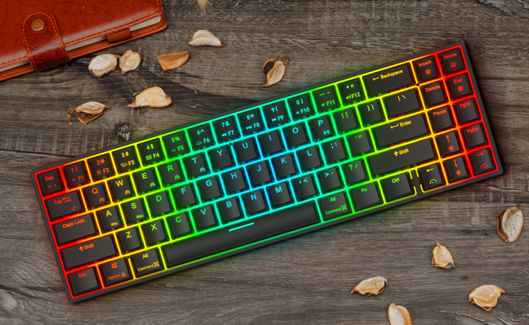 TKL Bluetooth RGB Mechanical Keyboard 71 Keys Gaming Wireless Mini Portable Game Board