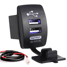 Universal 2 USB Motorcycle Charger 5V 3.1A Auto Car Charger 12-24V  for Motorcycle Electric Car ATV Boat
