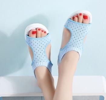 2019 New Women Wedge Sandals Casual Slip on Comfortable Flat Summer Sandals Peep Toe Breathable Mesh Platform Sandals Ladies 2
