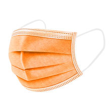 Máscara protetora descartável de 10/20/30/40/50/100/200 pces 3 camadas de filtro anti poeira smog earloop gaze máscara laranja adulto rosto máscaras boca