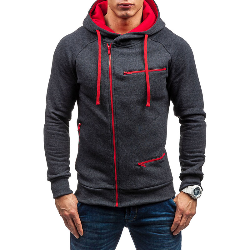 Men's Sweatshirt Autumn Fashion Casual Solid Hoodies Men Pullover Hoodie Streetwear Hip Hop Harajuku Zipper Hoodie Tracksuit