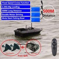 Nova função de cruzeiro velocidade fixa controle remoto localizador pesca barco 1.5 kg 500 m dupla noite luz isca pesca inteligente rc barco isca|Barcos RC| |  -