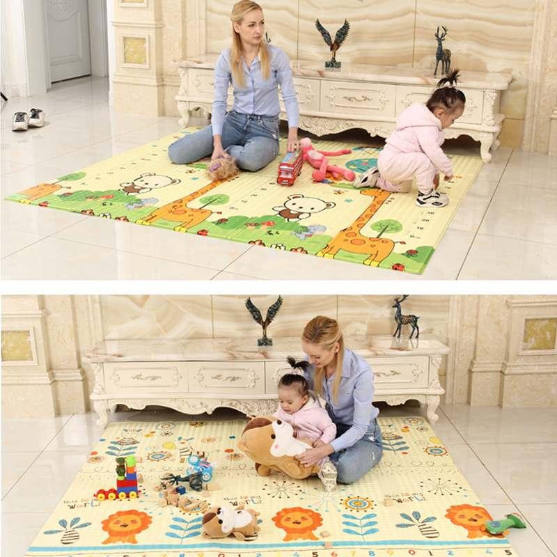 Criança dobrável jogar rastejando esteira brinquedos antiderrapante