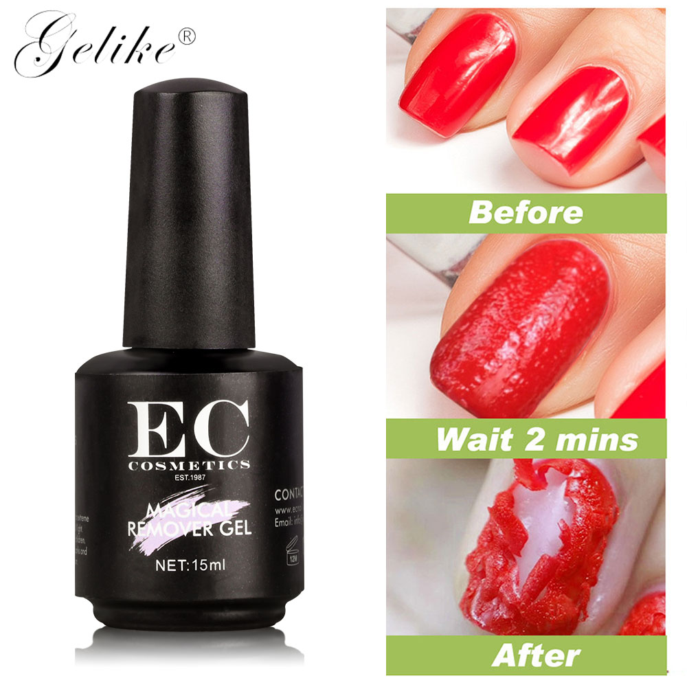 Gelike 15ml New arriveral Magic Nail Polish Remover Unloaded Glue Soak Off Burst Gel Manicure Lacquer