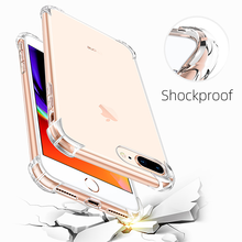 Shockproof Phone Case Ultra Thin Clear For iPhone 11 12 Pro X XS Max Transparent Silicone Case For iPhone 6 7 8 Plus Back Cover
