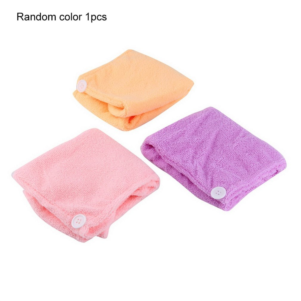 Microfibre After Shower Hair Drying Wrap Towel Quick Dry Hair Hat Cap Turban