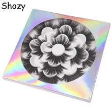Shozy 7pairs 25mm 5D Thick Faux Mink Eyelashes Fake Lashes Natural Long Makeup Eyelash Extension False