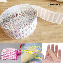 Bandage Cartoon 100pcs Cushion Sticker Plaster Adhesive First-Aid Wound Waterproof Breathable