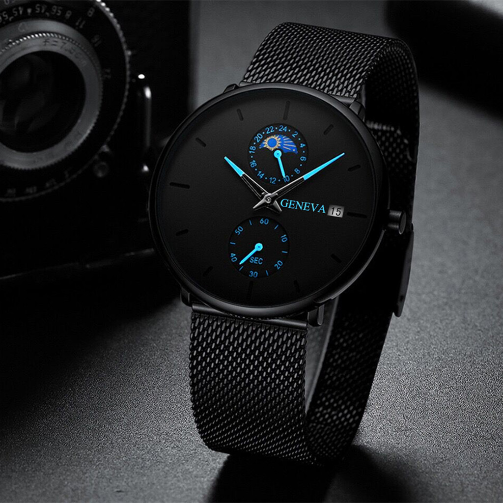 mans watch watch men luxury iced out watch Men's Color Pointer Calendar Net with Watch Fashion Men's Watch man watch 2019