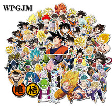 100 Pcs/pack Mixed Dragon Ball Anime Sticker for Car Laptop Skateboard Pad Bicycle Motorcycle Phone Decal Pvc Stickers a0023 superman logo dream anime kids recognition toy stickers for diy car laptop skateboard pad bicycle ps4 phone decal trunk