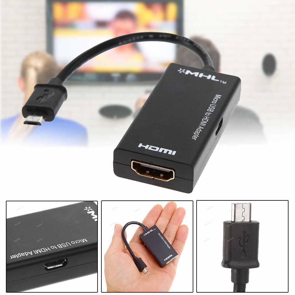 USB a HDMI MHL Micro USB Maschio a HDMI Femmina Vedio Collegamento del Cavo Adattatore del Connettore per Samsung HTC XiaoMi Accessori