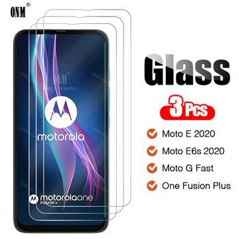 Перейти на Алиэкспресс и купить 3 шт., закаленное стекло для Motorola Moto One Fusion Plus/G, быстрая защита экрана, Защитное стекло для Moto E6s / E 2020
