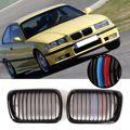 Автомобильные аксессуары  автомобильные гоночные грили  сменный передний глянцевый черный M Стиль  решетка для почек  гриль для BMW E36 3 серии ...