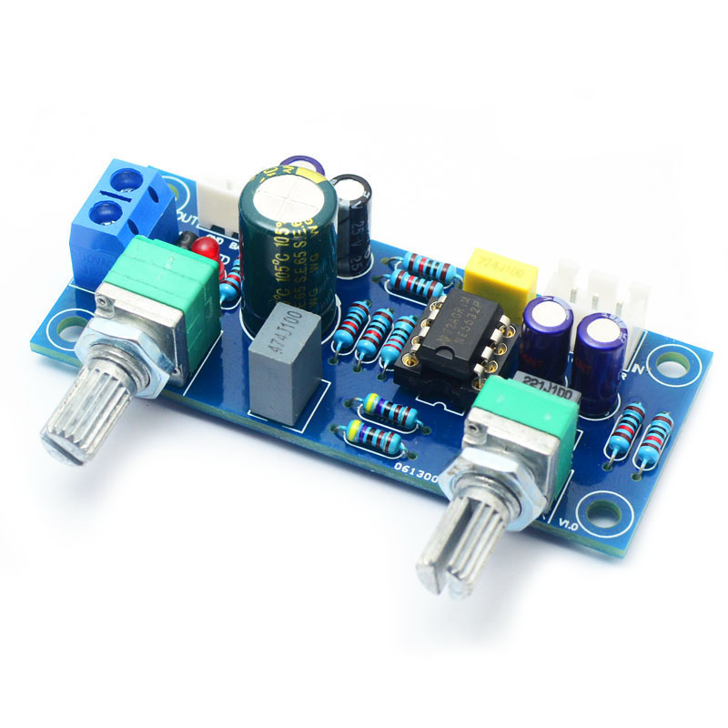 Hot 3C-Low Pass Filter Bass Subwoofer Pre-AMP Amplifier Board Dual Power NE5532 Low Pass Filter Bass Preamplifier DIY Kit