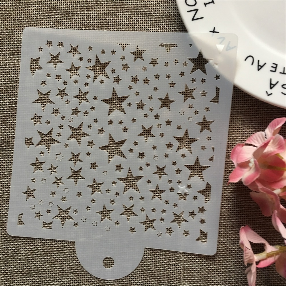 15cm Full Stars DIY Layering Stencils Wall Painting Scrapbook Coloring Embossing Album Decorative Card Template
