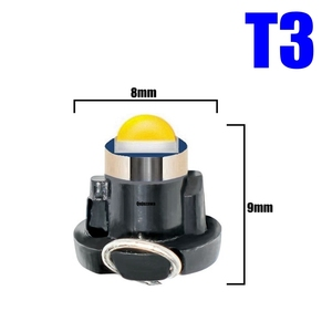 Image 2 - 100pcs T3 T4.2 T4.7 Cree Chip LED Bulb Car Dashboard Warning Indicator Light Instrument Cluster Lamp white red blue yellow green