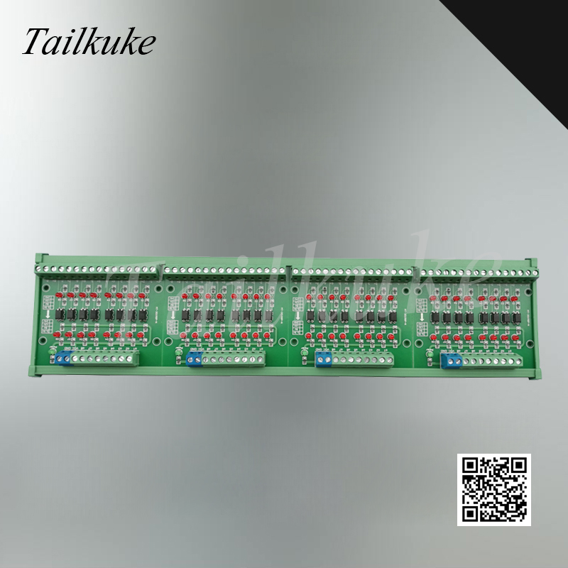 32 Channel Signal Voltage Level Conversion Board Signal Optocoupler Isolation Module 12v To 5v NPN Output PNP Output