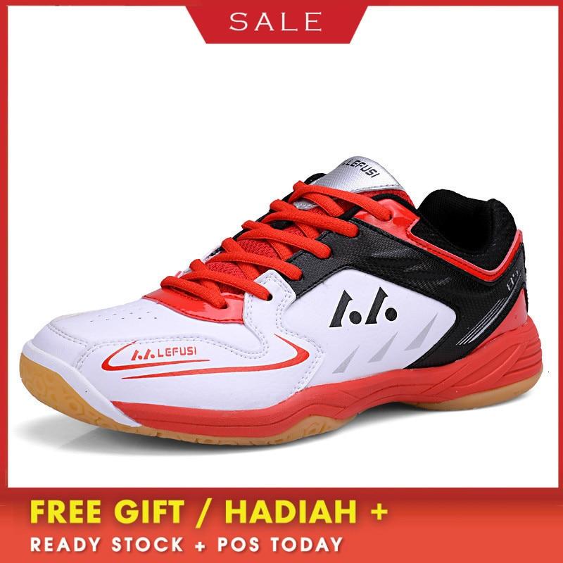 Chaussures de Badminton BOUSSAC pour hommes en cuir chaussures de Sport de Badminton pour hommes grande taille 11 chaussures de cour intérieure chaussures d'entraînement de Badminton