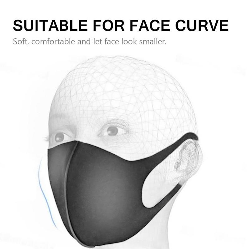 3D Anti-allergic Anti Dust Mouth Mask Anti-haze Anti-fog PM2.5 Sponge Face Cover Outdoor Protection Washable Reusable 3Pcs 6PCs