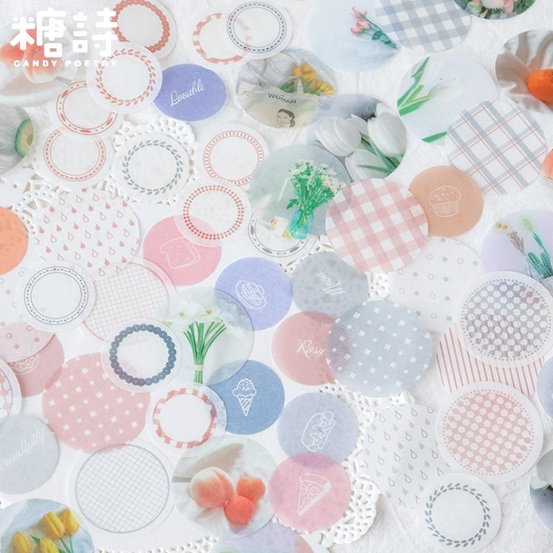 30pcs/lot Kawaii Stationery Sticker Set Flower Geometric Sticker Label For Scrapbooking Album Decoration Art Diy Craft