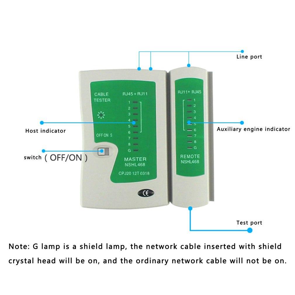 Сетевой кабель тестер RJ45 и RJ11 кабель UTP LAN кабель тестер детектор дистанционного тестирования инструментов линии сетей Искатель провода трекер